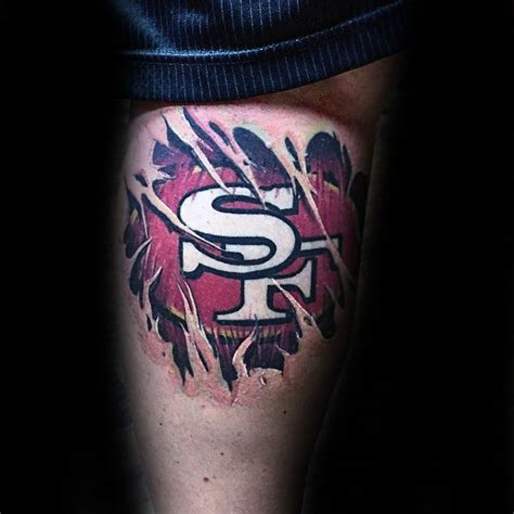 49ers tattoos 50 san francisco 49ers tattoos for football design ideas