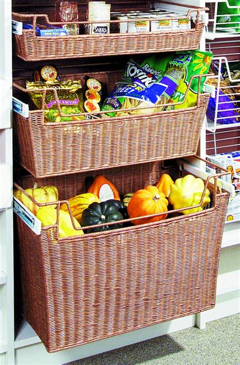 Pantry Storage Baskets by Wicker Baskets Chic Storage Solutions For Home