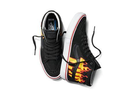 Vans Slip On Thrasher Flames thrasher x vans flames logo collection sneaker bar detroit