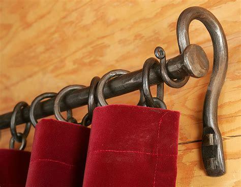 forged iron curtain rods forged iron curtain rods home design ideas