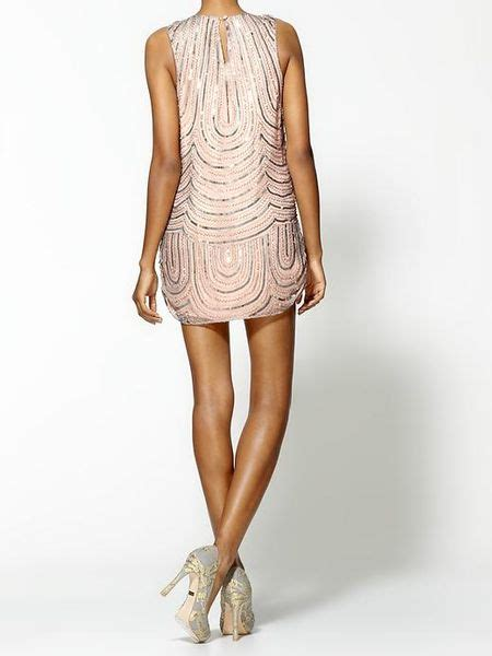 light pink tank dress light loopy beading silk tank dress in pink light