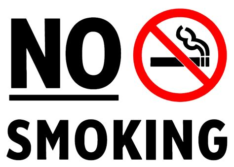 no smoking sign large danols ecofriendly properties