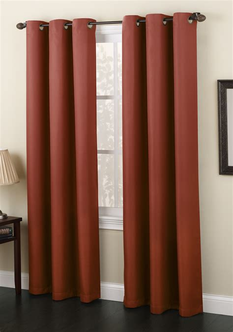 Navy And Taupe Curtains Montego Woven Grommet Curtains Navy Lichtenberg View