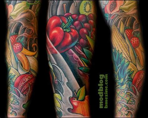 vegetable tattoos food tattoos inked magazine tattoos food