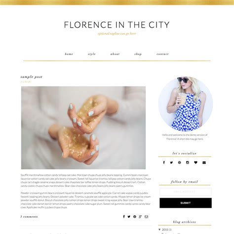 romantic templates for blogger feminine blogger template quot florence quot pish and posh designs