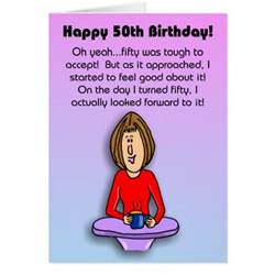 birthday card celebrating 50th birthday zazzle