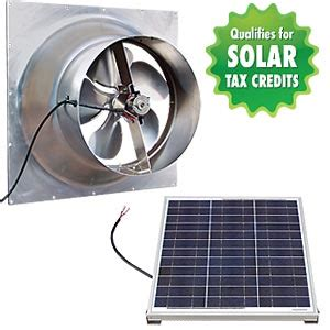 solar gable attic fan gable mount solar attic fan
