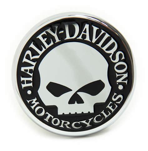 Emblem Harley New Skull harley davidson 2 quot trailer hitch receiver cover willie g skull emblem chrome plated brass