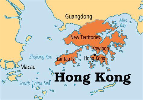 map of hong kong china hong kong operation world