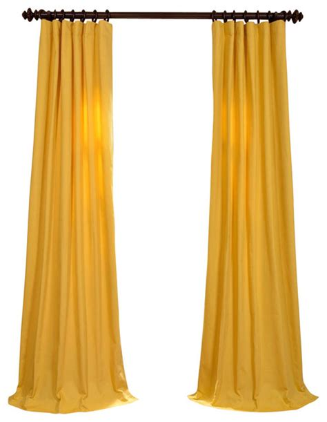 mustard yellow curtain shop houzz mustard yellow cotton twill curtain single