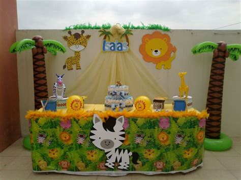 Adornos De Mesa Para Baby Shower - decoraci 243 n de baby shower de safari imagui baby shower zoo pinterest showers baby
