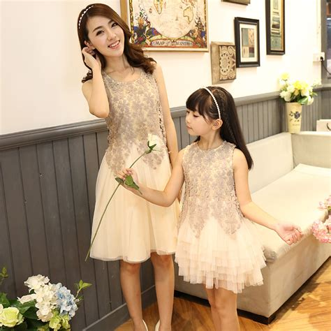 mother and daughter matching dress 2016 family look dress matching mother daughter dresses