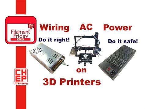 how to wire ac line power to a 3d printer kit power supply