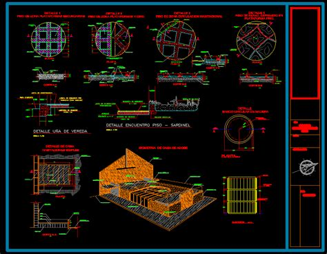 floor  bed details dwg full project  autocad