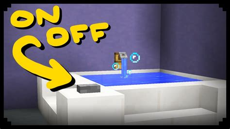 minecraft how to make a working bathtub youtube