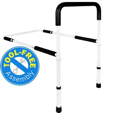 vaunn medical adjustable home bed rail handle  guard