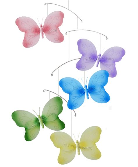 Hanging Butterfly Decorations by Butterfly Mobile Swirl Butterflies Ceiling Hanging