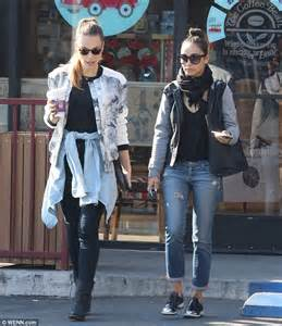 BFFs Cara Santana and Blanda Eggenschwiler coordinate in casual yet edgy outfits as they step
