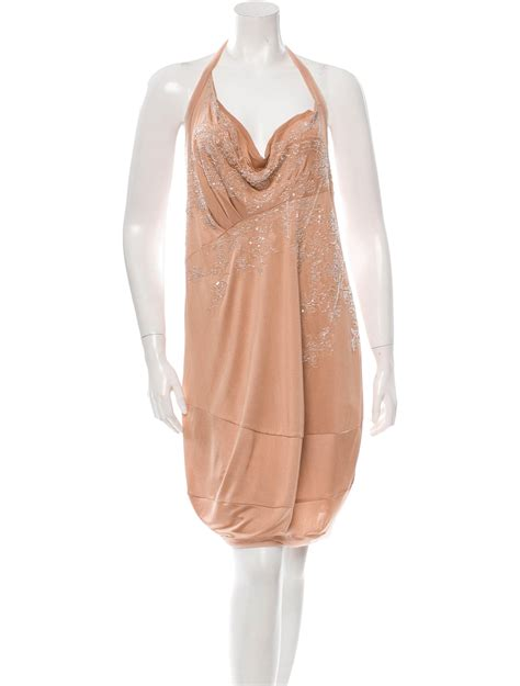 christian bead embellished evening dress w tags