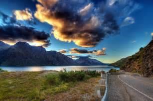 Natur landschaft stra 223 e berg himmel wolken wolken erde gras