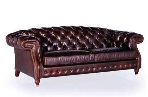 darlington 100 top grain tufted leather sofa