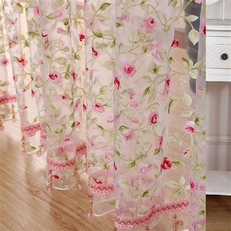 fabric kitchen curtains 2016 hot rose modern tulle for windows shade sheer