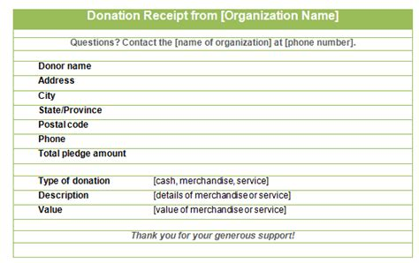 16 Donation Receipt Template 16 donation receipt template sles templates assistant