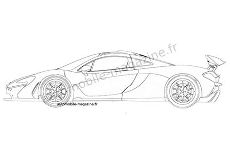 mclaren p1 drawing easy mclaren p1 patent sketches photo gallery autoblog