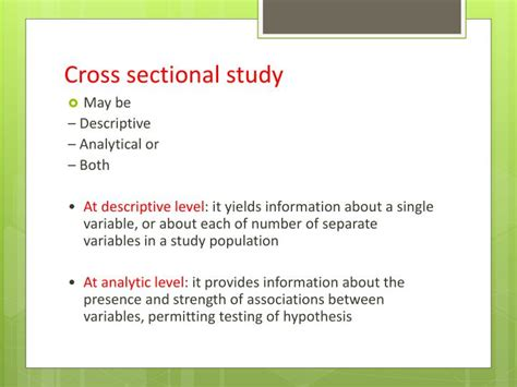 How To Do A Cross Sectional Study by Ppt Cross Sectional Study Powerpoint Presentation Id