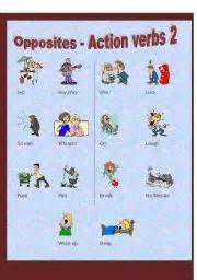 english worksheet opposite action verbs 2 of 3