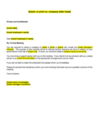 Australia Conference Invitation Letter invitation to attend a performance meeting letter human
