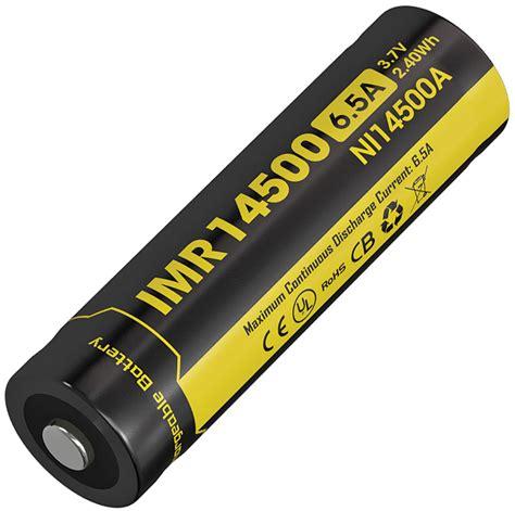 Nitecore 14500 Baterai Li Ion 850mah 3 7v Nl1485 ncni14500a nitecore imr 14500 li ion battery