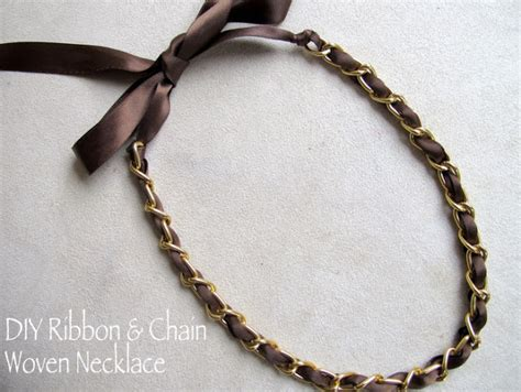 how to make ribbon jewelry diy designer inspired ribbon and chain necklace in 4 easy