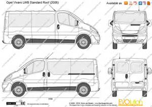 Vauxhall Vivaro Dimensions The Blueprints Vector Drawing Opel Vivaro Lwb
