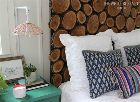 Make Your Own Wooden Headboard by Wood Slice Headboard How To Make A Headboard 14 Diy