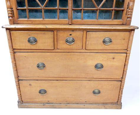 Pine Dresser Antique by Antique Pine Bookcase Dresser In Sold