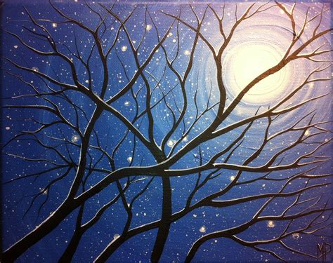 acrylic paint trees best 25 winter painting ideas on wine and