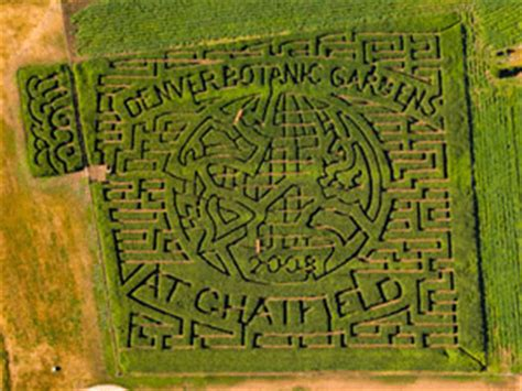 Botanical Gardens Corn Maze Corn Maze At The Denver Botanic Gardens
