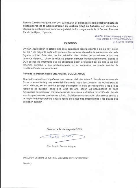 carta formal de vacaciones modelo carta solicitud de vacaciones ejemplos de