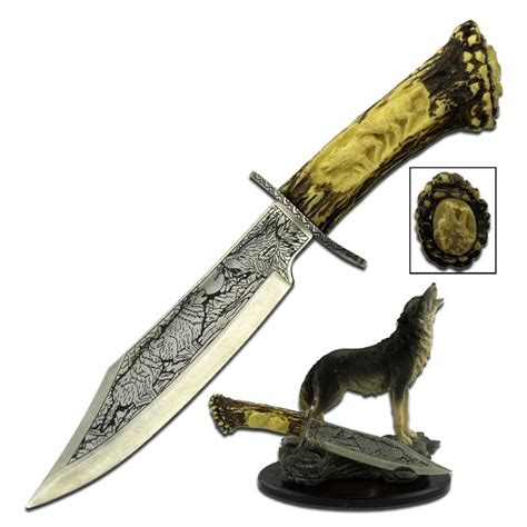 decorative knives wholesale 9 inch fixed blade decorative knife with wolf