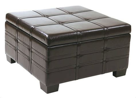 leather top ottoman 36 top brown leather ottoman coffee tables