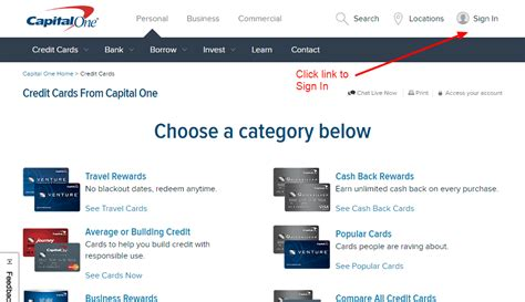 capital one bank sign in capital one credit card login cc bank