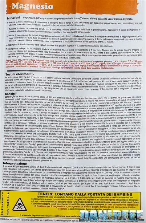 risultati test italiano test reefstatus magnesium carbonate borate seachem