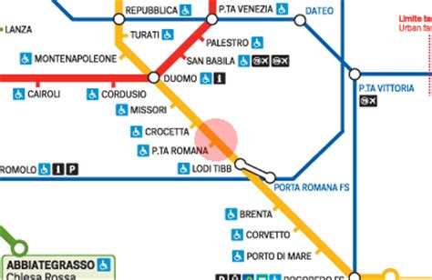 porta romana metro porta romana station map milan metro