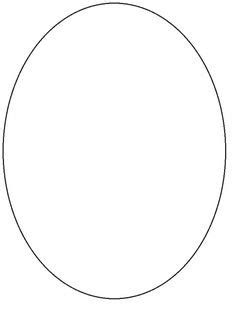oval face shapes coloring page oval template math pinterest template shapes and craft