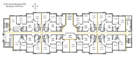 dorm floor plans north avenue hall colorado mesa university