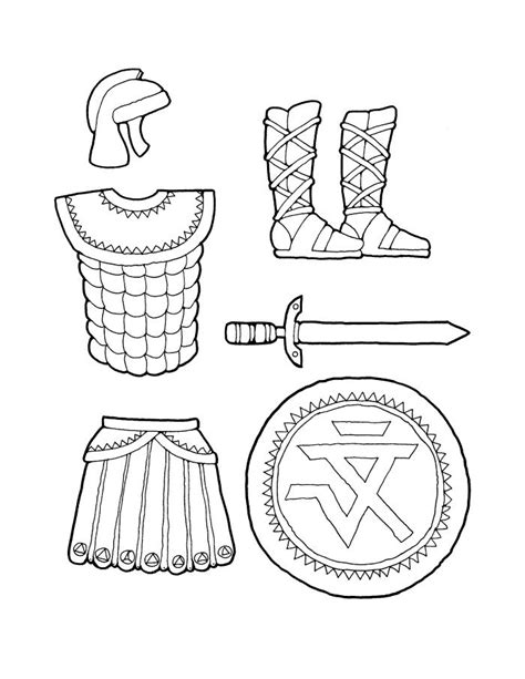 free coloring pages of armor of god lds