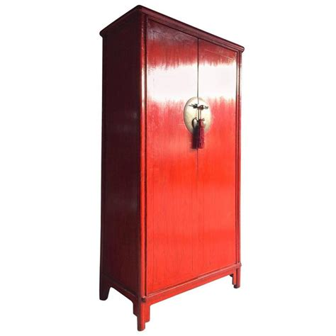 oriental armoire antique style chinese wardrobe armoire red lacquered
