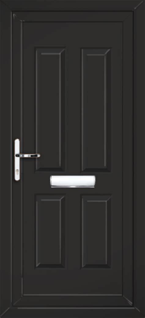 black upvc front doors black glazed upvc front door