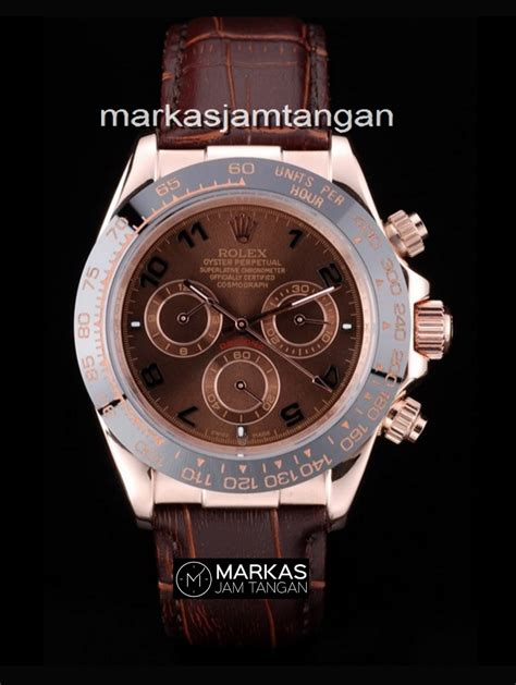 Rolex Daytona Rosegold Brown rolex daytona cosmograph automatic rosegold brown leather
